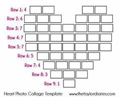 The Taylor Diaries: Heart Photo Collage Template. Decoration Photo, Photo Collage Template, Photo Displays, Display Photos, Display Ideas, Display Wall, Girls Bedroom, Teen Girl Rooms, Bedroom Art