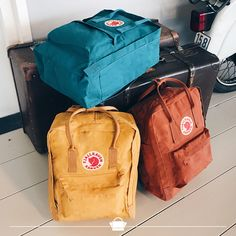 The Kanken backpack available in different colours! #kanken #fjallraven #colourfull