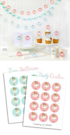 Free Ballerina Party Printable Circles