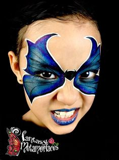 Batgirl butterfly face painting