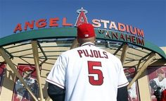 Albert Pujols: Anaheim Angel of Los Angeles, California (or something) Baseball Buckets, Baseball Dugout, Twins Baseball, Angels Baseball, Baseball Jerseys, Baseball Hats, Albert Pujols, Fantasy Baseball, Sports Fanatics