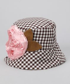 Wiggy Studio Brown Gingham Bucket Hat is want one for me