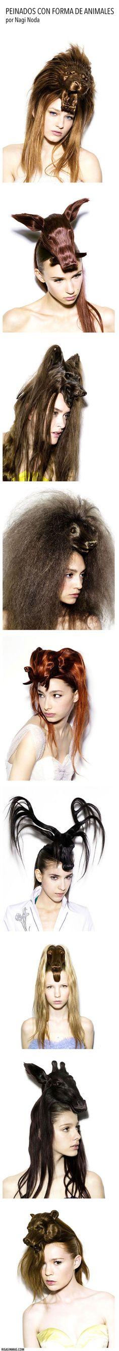 Peinados con forma de animales