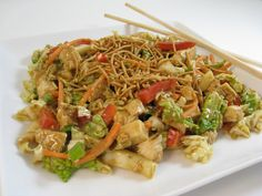 Fabulous and Skinny, Shanghai Chicken Salad with Weight Watchers Points | Skinny Kitchen
