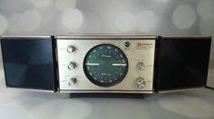 Vintage Hitachi Solid State AM/FM Table RADIO Shelf Top Model Extension Speakers #Hitachi