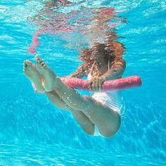 All new for Eight great exercises and a pool noodle—you'll get the benefits of resistance training and aerobics and a great workout! Water Aerobics Routine, Water Aerobics Workout, Water Aerobic Exercises, Pool Workout, Water Workouts, Gym Workouts, Pool Noodle Exercises, Swimming Pool Exercises, Swimming Pools