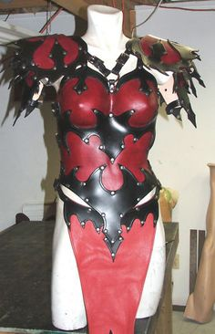 Womans Leather Armor Full Breast Plate LARP SCA Gothic | eBay
