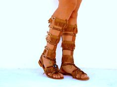 20% SALES Native America Tall gladiator sandals hippie by DelosArt