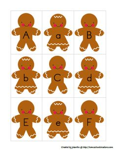 Free Homeschool Printables: Gingerbread Christmas Pack and Lapbook