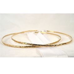 Hammered Gold Crown - Modern Greek Orthodox Wedding crown