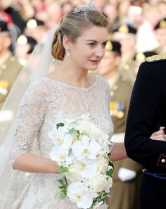 2012: Belgian Countess Stephanie Marie Claudine Christine de Lannoy (1984-living2013) marries Luxembourg's Prince Guillaume Marie Louis Christian (1981-living2013) in Oct 2012, by unknown artist. Stephanie is the 8th child of Count & Countess Philippe de Lannoy (1922-living2013) & Alix della Faille de Leverghem (1941–2012) of Belgium. Guillaume is the 4th child of Grand Duke & Duchess Jean (1921-living2013) of Luxembourg & wife Josephine-Charlotte (1927-2005) of Belgium.