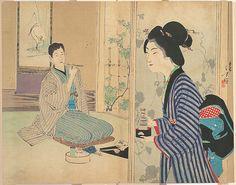Mizuno Toshikata | The Eel Master (Unagi danna), illustration from Bugei Kurabu (Literary Club) | Japan | Meiji period (1868–1912) | The Met