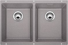 This double bowl undermount sink from BLANCO is made of natural granite. Rear positioned drain holes maximize usable bowl and cabinet storage space. stainless steel strainers are included. Fitted Cabinets, Blanco Sinks, Ceramic Undermount Sink, Water Traps, Sink Taps, Faucet, Single Bowl Kitchen Sink, Stainless Steel Kitchen