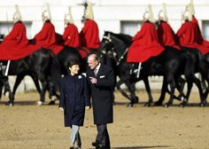 November 5, 2013 - South Korean President Park Geun-hye, and Prince Philip, The Duke of Edinburgh appear to be sharing a joke as they walk together at Horse Guards Parade