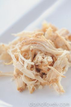 Pulled Chicken - Crock Pot dashoflovely.com