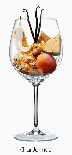 Chardonnay (white)   Aromas of pineapple, apricot, cantaloupe, vanilla, toast, butter, caramel   Burgundy wine region, Eastern France
