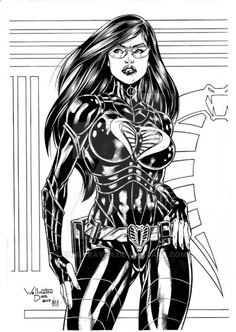 Baroness Comission Ink by DyegoJack on DeviantArt War Comics, Anime Comics, Geeks, Baroness Gi Joe, 80s Cartoon Shows, Danger Girl, Black And White Sketches, 90s Cartoons, Marvel Girls
