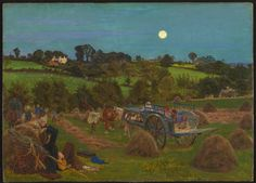 The Hayfield - Ford Madox Brown