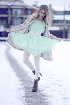 """Mint Dress by Queen's Wardrobe"" by Anna Vershinina on LOOKBOOK.nu"