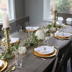 I can't believe Thanksgiving is a week away. I'm hosting brunch this year and I found some great pieces to make our dining table from @pier1 come together. My gold pillar candle holders, gold pumpkin candle holders, gold chargers and white and gold pumpkins are from @homegoods The garland is Hearth and Hand with Magnolia found @target. #pier1love #targetstyle #hearthandhand #makehomeyours #target #chipandjoannagaines #magnolia #bhghome #bhgcelebrate #tablescape #thanksgiving #homegoods…