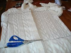 """""""Make your own pillow out of a sweater! Now if only I knew how to sew. :)""""  This is what I should do! Go to Goodwill, pick up some super-extra-large sweaters, and BAM! Cheap couch cushions!"""