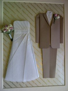 £125 - Wedding Outfits - bespoke order - hand made by papergifts.me.uk  A picture no instructions.