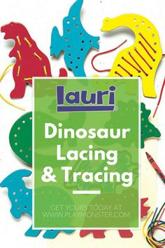 Lauri Dinosaur Lacing & Tracing is perfect for your dinosaur loving preschooler or toddler. Lacing helps promote good penmanship because it develops the pincer grip. The activities also increase fine motor control, introduce problem-solving, develop concentration, and encourage quiet play. Shop Lauri Lacing & Tracing today! Play Shop, Penmanship, Classic Toys, Fun Learning, Fine Motor, Educational Toys, Problem Solving, Gift Guide, Dinosaur Stuffed Animal