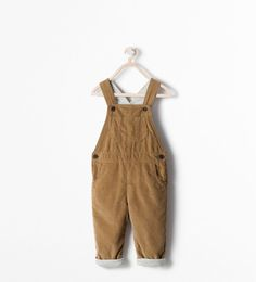 ZARA - SALE - NEEDLECORD DUNGAREES WITH LINING