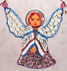 Handmade LITTLE ANGEL glass fusing techniques newborn от ICMCM