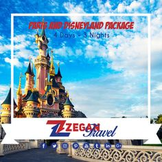 Paris and Disneyland Package (4 Days-3 Nights)  *Eiffel Tower- Notre Dame-Montmartre- Louvre Museum-Disneyland  *Airport Transfers  *Guided Daily Tours   Contact us now info@zegantravel.com  http://www.zegantravel.com/Paris-And-Disneyland-Package  #europe #europetour #europetravel #france #francetour #francetravel #paris #paristour #paristravel #eiffeltower #notredame #montmartre #louvremuseum #disneyland