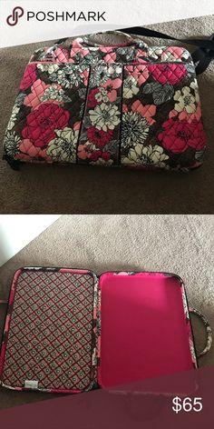 Vera Bradley hard laptop case Brand new never used Vera Bradley laptop case! Pink brown and cream Vera Bradley Bags Laptop Bags