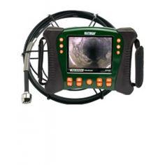 """http://termometer.dk/inspektionskamera-r12842/hd-videoskop-vvs-kit-med-10m-probe-53-HDV650-10G-r34644  HD videoskop VVS Kit med 10m Probe  Inkluderer fleksibel glasfiber kerne, 10m vandtæt kamera sonde (spole samling)  25mm kamera hoved (60 ° FOV, lang dybdeskarphed) med indbygget lys 12 lysdioder til belysning af de problematiske områder  5,7 """"farve LCD TFT med high definition 640 x 480 VGA-pixel opløsning  Robust olie / kemikalie resistent og vand / slip bevis hus (IP67)..."""
