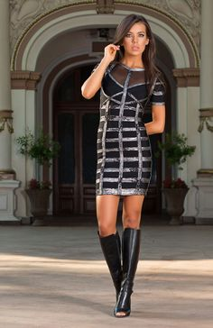 Cheap rayon bandage dress, Buy Quality bandage dress directly from China bodycon dress Suppliers: High Quality HL Short Sleeve Black And Pink Stretch Rayon Bandage Dress Tight Bodycon Dress Flattering Dresses, Tight Dresses, Cheap Dresses, Bandage Dresses, Black Bodycon Dress, Animal Print Dresses, Leather Dresses, Dress Skirt, Fitted Skirt