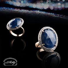Anello Zaffiro e Diamanti - Ring: Sepphire and Diamonds - Precious Jewelry - Jewels - Silvia Kelly Gioielli - Italy - www.quelchevale.it