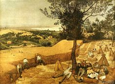 Pieter Breughel exhibition poster - The Harvesters - museum print - offset lithograph - metropolitan museum of art Camille Pissarro, Claude Monet, Pieter Brueghel El Viejo, Pieter Bruegel The Elder, Monthly Pictures, Religious Paintings, William Turner, Poster Prints, Art Prints