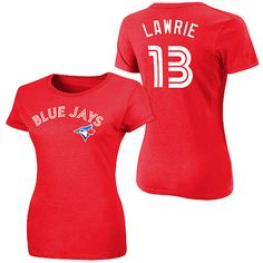 Brett Lawrie Toronto Blue Jays Majestic Women's Canada Day T-Shirt - Red - $19.94