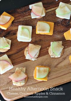Apple Cheese Crackers- Healthy Snacks for Kids - Somewhat Simple