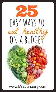 Eating healthy doesn't have to be expensive! If you're looking to switch to a healthier diet this year you'll want to check out this article. It shares 25 easy ways that you can eat healthy on a budget! Ways To Eat Healthy, Healthy Options, Get Healthy, Healthy Habits, Healthy Tips, Healthy Snacks, Healthy Recipes, Eating Healthy, How To Be Healthier