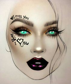 Makeup Goals, Makeup Inspo, Makeup Inspiration, Beauty Makeup, Drugstore Beauty, Mac Face Charts, Makeup Face Charts, Hipster Drawings, Rave Makeup