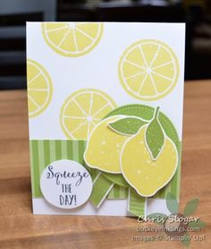 Squeeze the Day! Lemon Zest from Stampin' Up! Paper Cards, Diy Cards, Box Of Sunshine, Pineapple Punch, Stamping Up Cards, Quick Cards, Paper Pumpkin, Recipe Cards, Birthday Cards