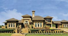 """Sater Design's 8046 """"La Reina"""" home plan from our Mediterranean Home Plan Collection...."""
