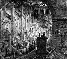 Gustave Dore: Images of Victorian London Victorian London, Victorian Life, Vintage London, Victorian Gothic, Gustave Dore, 19th Century London, Cities, Slums, Wood Engraving