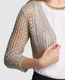 Bolero de mujer Fórmula Joven de crochet con lentejuelas