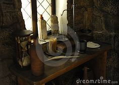 Medieval Castle Interior Design | Medieval interior workplace.Retro-styled interior.