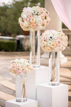Elegant floral arrangements for the altar