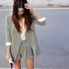 Shorts suits are awesome. As are matching sets. Loving those right now so much
