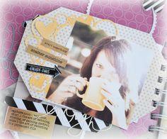 yesterday i showed you the week 3 version of the Heidi Swapp Media Teams Memory File Adventure . Mini Scrapbook Albums, Mini Albums, Happy June, Color Magic, Heidi Swapp, Circle Punch, Rose Photos, Photo Layouts, Making Memories