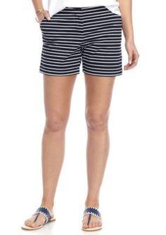 Crown  Ivy  NavyWhite Stripe Short