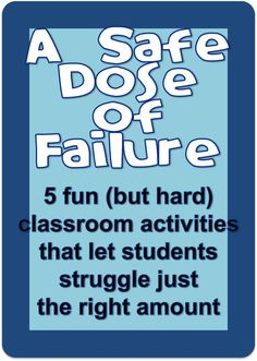 safe dose of failure Great activities for teaching growth mindset.Great activities for teaching growth mindset. Gifted Education, Character Education, Special Education, Education Posters, Teaching Character, Education Humor, Science Education, Childhood Education, Teaching Strategies