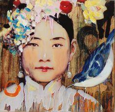 Hung Liu via Diehl Gallery